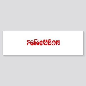 Ferguson Surname Heart Design Bumper Sticker