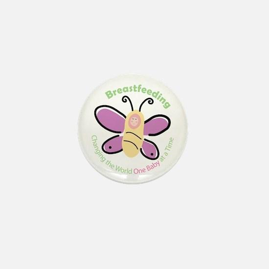 Butterfly Baby Breastfeeding Mini Button
