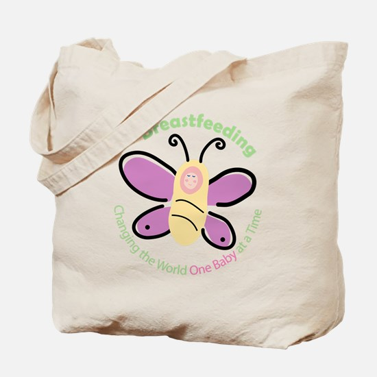 Butterfly Baby Breastfeeding Tote Bag