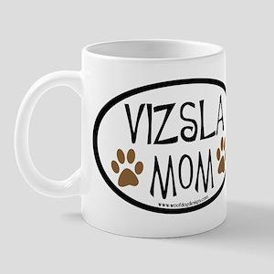 Vizsla Mom Oval Mug
