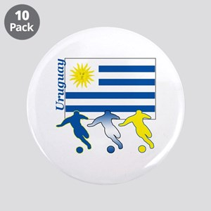 """Uruguay Soccer 3.5"""" Button (10 pack)"""