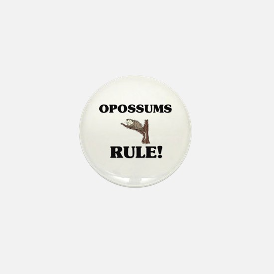Opossums Rule! Mini Button