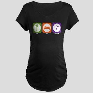 Eat Sleep Fix Stuff Maternity Dark T-Shirt