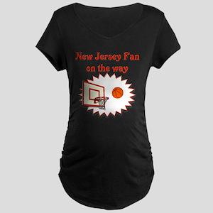 New Jersey Fan on the way Maternity Dark T-Shirt