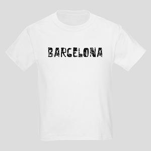 Barcelona Faded (Black) Kids Light T-Shirt