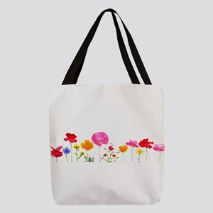 wild meadow flowers Polyester Tote Bag