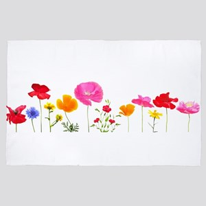 wild meadow flowers 4' x 6' Rug