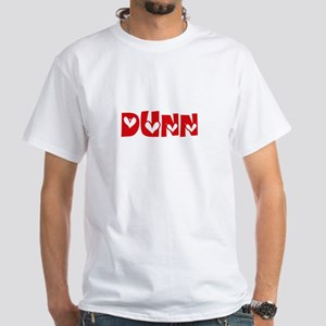Dunn Surname Heart Design T-Shirt