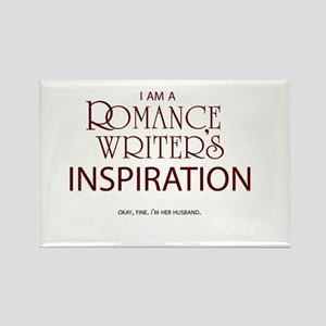 Romance Writer's Husband Rectangle Magnet
