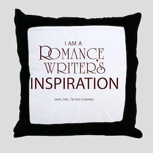 Romance Writer's Husband Throw Pillow