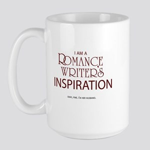 Romance Writer's Husband Large Mug