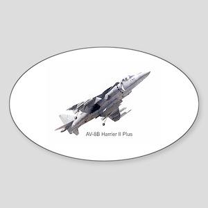 Harrier II Plus Oval Sticker