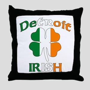 Detroit Irish Throw Pillow