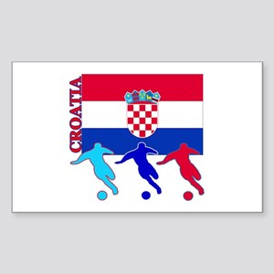 Croatia Soccer Rectangle Sticker 10 pk)