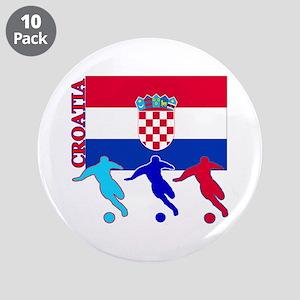 "Croatia Soccer 3.5"" Button (10 pack)"