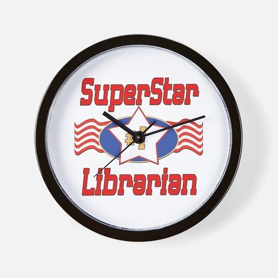 Superstar Librarian Wall Clock