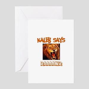 Kaleb Says Raaawr (Lion) Greeting Card