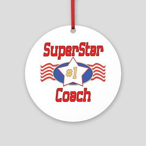 Superstar Coach Ornament (Round)