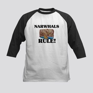 Narwhals Rule! Kids Baseball Jersey
