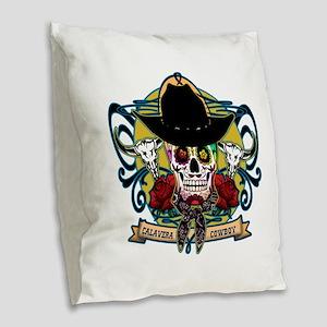 CALAVERA COWBOY Burlap Throw Pillow
