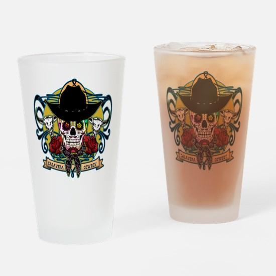 CALAVERA COWBOY Drinking Glass