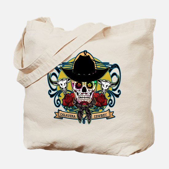 Calavera Cowboy Tote Bag