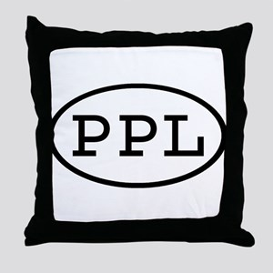 PPL Oval Throw Pillow