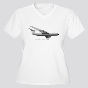 C-141 Starlifter Women's Plus Size V-Neck T-Shirt