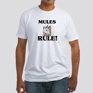 Mules Rule! Fitted T-Shirt