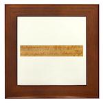 Infringement-2 Framed Tile