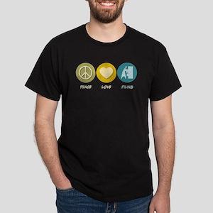Peace Love Filing Dark T-Shirt