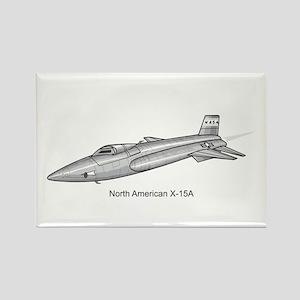X-15 Rocket Power Aircraft Rectangle Magnet