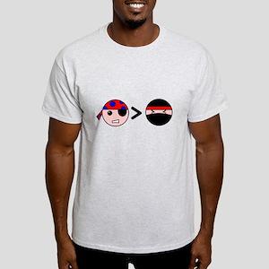 Pirates Greater Than Ninjas Light T-Shirt