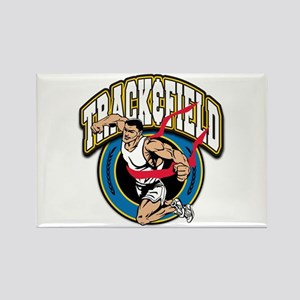 Track and Field Logo Rectangle Magnet (10 pack)