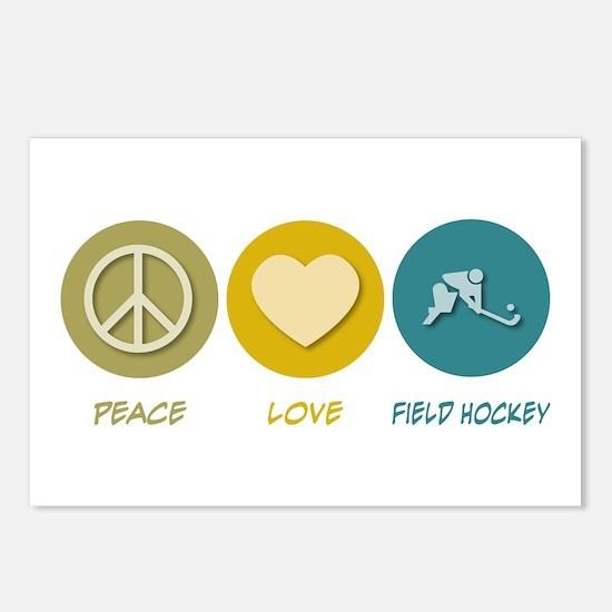 Peace Love Field Hockey Postcards (Package of 8)