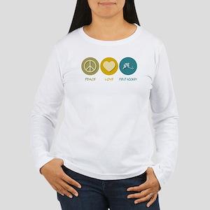 Peace Love Field Hockey Women's Long Sleeve T-Shir