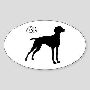 Vizsla Silhouette Oval Sticker