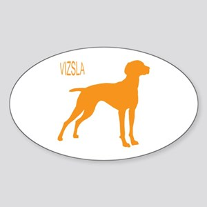 Vizsla Silhouette Oval Sticker
