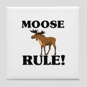 Moose Rule! Tile Coaster