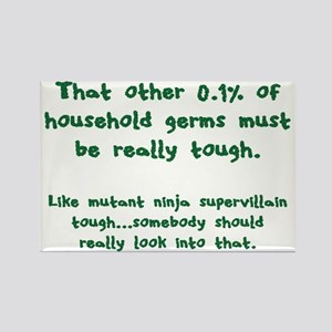 Tough Germs Rectangle Magnet
