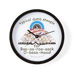 Baa-rack Obama Sheeple Wall Clock