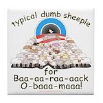 Baa-rack Obama Sheeple Tile Coaster