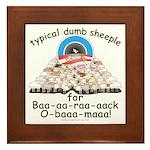 Baa-rack Obama Sheeple Framed Tile