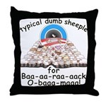 Baa-rack Obama Sheeple Throw Pillow