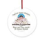 Baa-rack Obama Sheeple Ornament (Round)
