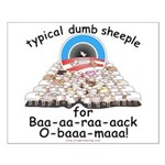 Baa-rack Obama Sheeple Small Poster