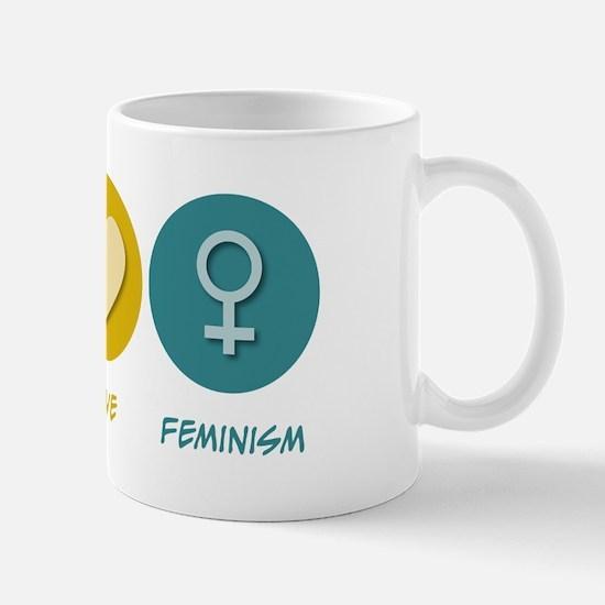 Peace Love Feminism Mug