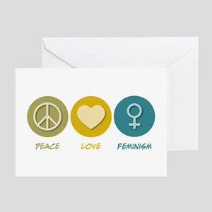 Peace Love Feminism Greeting Cards (Pk of 20)