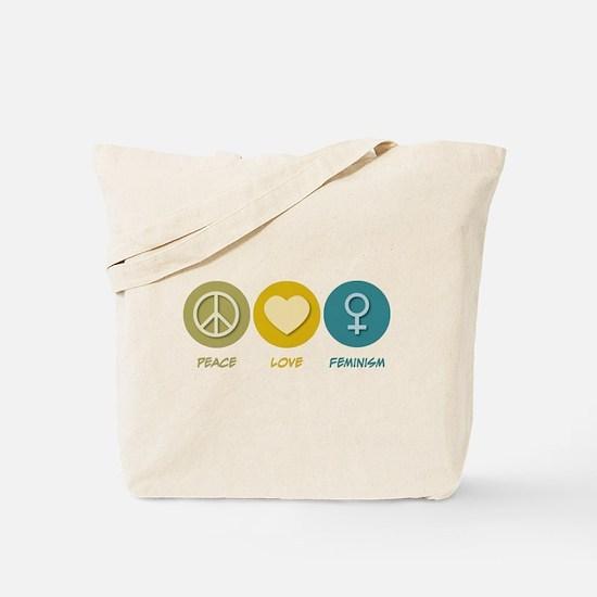 Peace Love Feminism Tote Bag