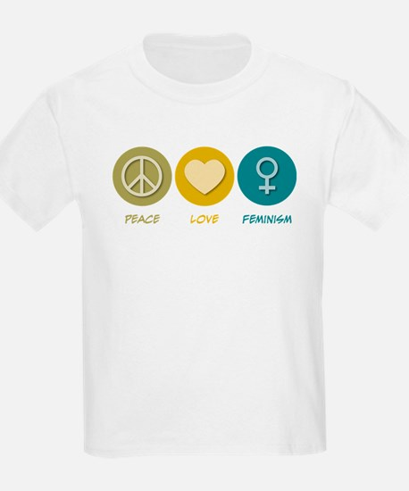 Peace Love Feminism T-Shirt